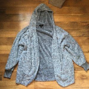 Sherpa hooded cardigan